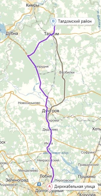 Схема проезда на земельные